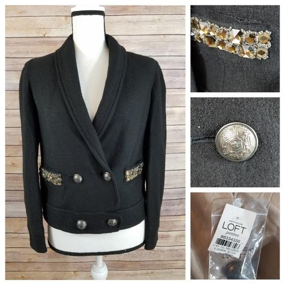 LOFT Jackets & Blazers - NWT LOFT 2P 2 Embellished Wool Blazer Jacket
